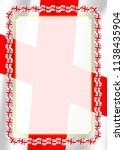 frame and border of ribbon with ... | Shutterstock .eps vector #1138435904