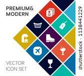 modern  simple vector icon set... | Shutterstock .eps vector #1138441229