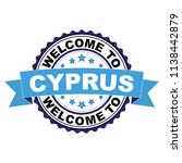 welcome to cyprus blue black... | Shutterstock .eps vector #1138442879