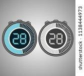 electronic digital stopwatch....   Shutterstock .eps vector #1138444973