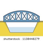 vector arched train bridge in... | Shutterstock .eps vector #1138448279