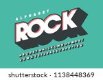 retro 3d display font design ... | Shutterstock .eps vector #1138448369