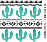 seamless vector pattern with... | Shutterstock .eps vector #1138455146