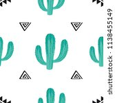 seamless vector pattern with... | Shutterstock .eps vector #1138455149
