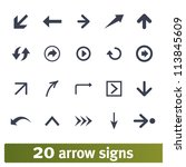 arrow  direction signs  web... | Shutterstock .eps vector #113845609
