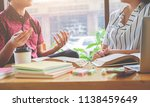 education concept. students... | Shutterstock . vector #1138459649
