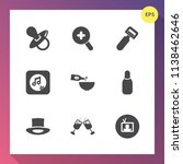 modern  simple vector icon set... | Shutterstock .eps vector #1138462646
