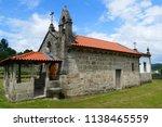 romanesque church saint martin  ... | Shutterstock . vector #1138465559
