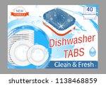 dishwasher detergent tabs.... | Shutterstock .eps vector #1138468859