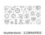 startup concept horizontal... | Shutterstock .eps vector #1138469003