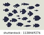 set of tropical fish. vector... | Shutterstock .eps vector #1138469276