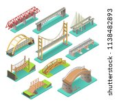 bridges isometric set.... | Shutterstock .eps vector #1138482893
