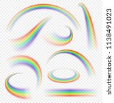 realistic rainbow curve. arch... | Shutterstock .eps vector #1138491023