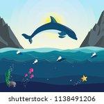 sea vector landscape. the...   Shutterstock .eps vector #1138491206