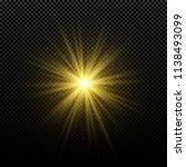 golden glowing golden star on a ...   Shutterstock .eps vector #1138493099