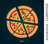 pizza flat icons isolated on... | Shutterstock .eps vector #1138493420