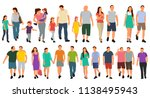vector  isolated people go ... | Shutterstock .eps vector #1138495943