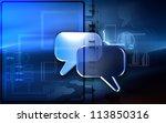digital illustration of talk... | Shutterstock . vector #113850316