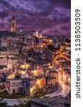 view of matera at twilight ... | Shutterstock . vector #1138503509