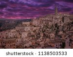view of matera at twilight ...   Shutterstock . vector #1138503533