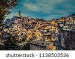 view of matera at twilight ...   Shutterstock . vector #1138503536