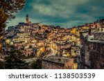 view of matera at twilight ...   Shutterstock . vector #1138503539