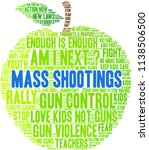 mass shootings word cloud on a... | Shutterstock .eps vector #1138506500