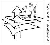 membrane fabric. vector flat... | Shutterstock .eps vector #1138507259