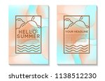summer poster with bright... | Shutterstock .eps vector #1138512230