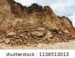 mountain landslide in an... | Shutterstock . vector #1138513013