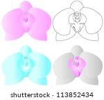 vector orchid flower | Shutterstock .eps vector #113852434