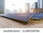 modern technology and green new ... | Shutterstock . vector #1138526936