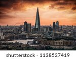 the skyline of london during a... | Shutterstock . vector #1138527419