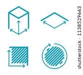 size  square  area concept line ... | Shutterstock .eps vector #1138529663
