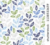 wrapping tea leaves pattern... | Shutterstock .eps vector #1138533659