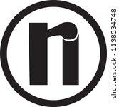 ri letter vector logo | Shutterstock .eps vector #1138534748