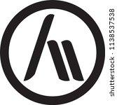 an letter vector logo | Shutterstock .eps vector #1138537538