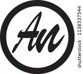 an letter vector logo | Shutterstock .eps vector #1138537544