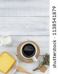 a cup of coffee  milk and... | Shutterstock . vector #1138541879