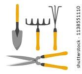 garden tool kit  isolated on... | Shutterstock .eps vector #1138551110