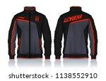 jacket design sportswear track... | Shutterstock .eps vector #1138552910