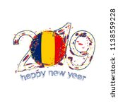 happy new 2019 year with flag... | Shutterstock .eps vector #1138559228