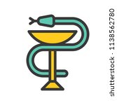 a snake twined around a chalice ... | Shutterstock .eps vector #1138562780
