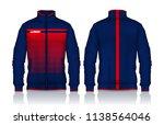 jacket design sportswear track... | Shutterstock .eps vector #1138564046