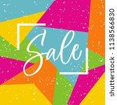 sale lettering in the frame on... | Shutterstock .eps vector #1138566830