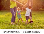family  happiness  childhood... | Shutterstock . vector #1138568009
