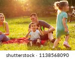 family time  happy young family ... | Shutterstock . vector #1138568090