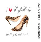Girly Slogan With High Heel...