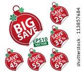 Big Save Christmas Ball Sticke...