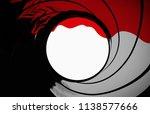 james bond 007 gun barrel...   Shutterstock . vector #1138577666